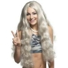 Wig Hippie W/headband Gray